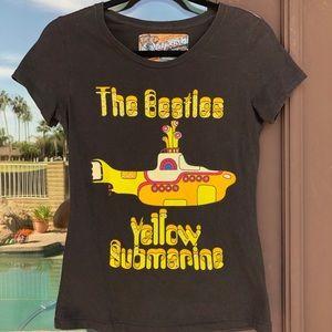 AMAZING Spangled Beatles Yellow Submarine Tee M